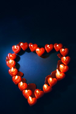 Ute Klaphake RED CANDLES IN HEART-SHAPE Miscellaneous Objects