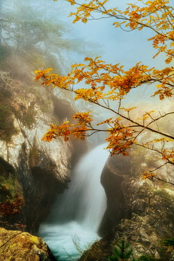 Lars van de Goor WATERFALL IN AUTUMN COUNTRYSIDE Miscellaneous Water