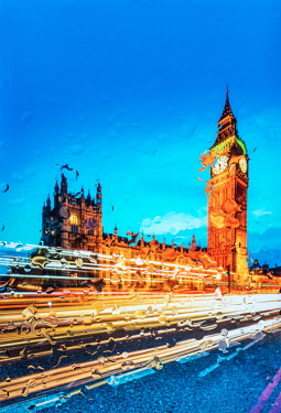 Tim Gartside HOUSES OF PARLIAMENT THROUGH RAINY CAR WINDOW Miscellaneous Cities/Towns