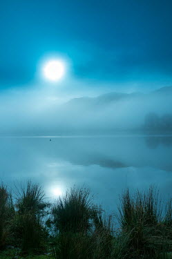 Tim Gartside FOGGY LAKE WITH FULL MOON Lakes/Rivers