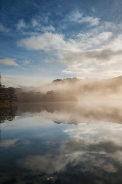 Tim Gartside MISTY LAKE WITH BLUE SKY AND CLOUDS Lakes/Rivers