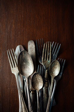 Susan O'Connor SET OF OLD CUTLERY ON TABLE Miscellaneous Objects