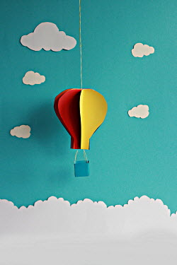 Jasenka Arbanas PAPER HOT AIR BALLOON AND CLOUDS Miscellaneous Objects