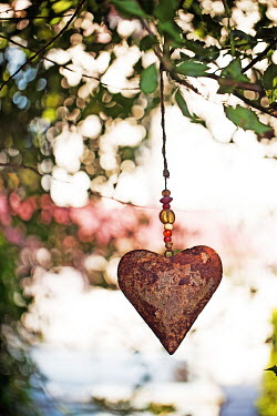 Alison Archinuk METAL HEART ORNAMENT IN TREE Miscellaneous Objects