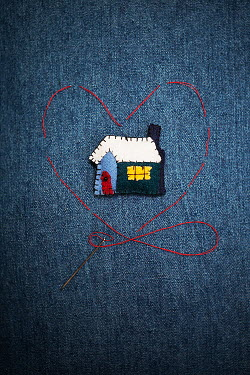 Alison Archinuk EMBROIDERY ON BLUE DENIM Miscellaneous Objects