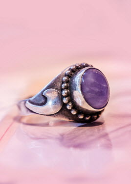 Jaroslaw Blaminsky ANTIQUE SILVER RING WITH AMETHYST Miscellaneous Objects