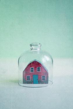 Jill Ferry MODEL HOUSE IN GLASS BELL JAR Miscellaneous Objects