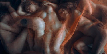 Rafael Sanchez Garcia NUDE YOUNG WOMEN UNDER CHIFFON Groups/Crowds