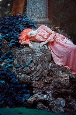 Rafael Sanchez Garcia YOUNG WOMAN LYING ON RUINS Women