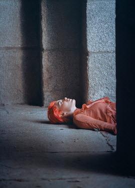 Rafael Sanchez Garcia YOUNG WOMAN LYING ON STONE Women