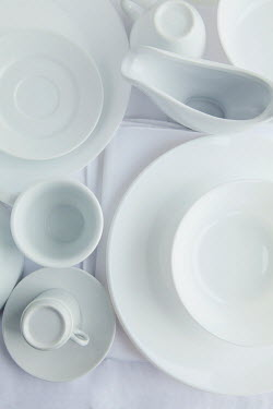 Isabelle Lafrance WHITE CHINA ON TABLECLOTH Miscellaneous Objects