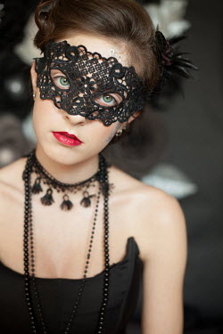 Svetoslava Madarova WOMAN WITH BLACK LACE MASK Women