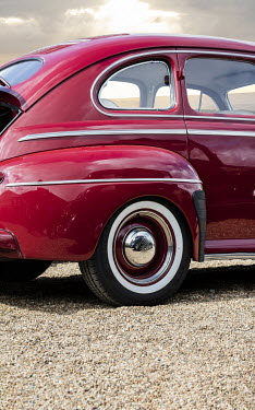 Stephen Mulcahey CLOSE UP OF RED RETRO CAR Cars
