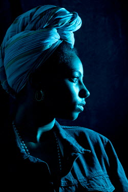 Miguel Sobreira AFRICAN WOMAN WITH HEAD WRAP Women