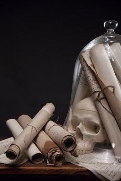 Paul Grand SCROLLS AND SKULL IN JAR Miscellaneous Objects