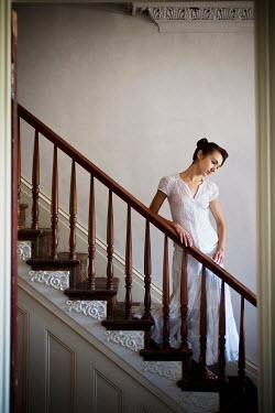 Joshua Sheldon WOMAN ON STAIRCASE OF OLD HOUSE Women
