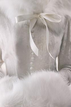 Sandra Cunningham HISTORICAL WOMAN IN WHITE FUR Women