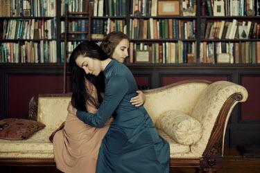 Iness Rychlik TWO WOMEN ON CHAISE LOUNGE Women