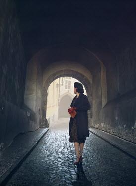 Mark Owen RETRO WOMAN IN TUNNEL IN CITY Women