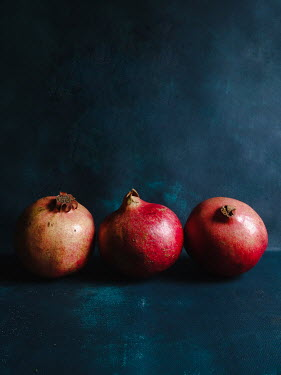 Jane Morley CLOSE UP OF THREE POMEGRANATES Miscellaneous Objects