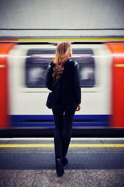 Chris Reeve GIRL ON PLATFORM WITH TUBE TRAIN Women
