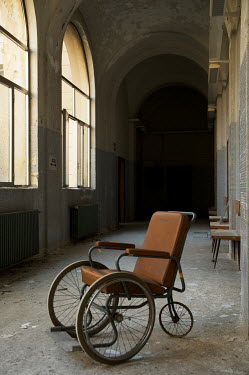 RomanyWG ANTIQUE WHEELCHAIR IN ABANDONED BUILDING Interiors/Rooms