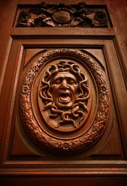 Michael Trevillion DOOR WITHE CARVED MEDUSA HEAD Building Detail