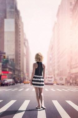 Evelina Kremsdorf WOMAN IN NEW YORK STREET IN SUMMER Women