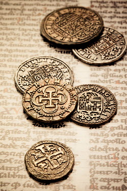 Valentino Sani HISTORIC COINS ON OLD PAGE Miscellaneous Objects