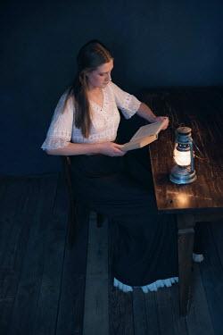Ysbrand Cosijn HISTORICAL WOMAN READING A BOOK Women
