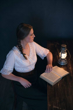 Ysbrand Cosijn HISTORICAL YOUNG WOMAN WITH BOOK Women