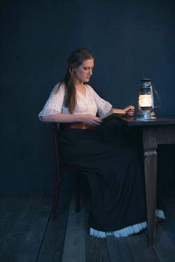 Ysbrand Cosijn HISTORICAL YOUNG WOMAN READING A BOOK Women