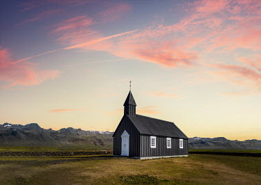Evelina Kremsdorf SMALL RURAL CHIRCH AT SUNSET Religious Buildings