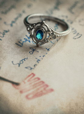 Jaroslaw Blaminsky RING WITH BLUE GEM ON LETTER Miscellaneous Objects