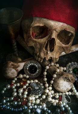 Jaroslaw Blaminsky PIRATE SKULL WITH TREASURE Miscellaneous Objects