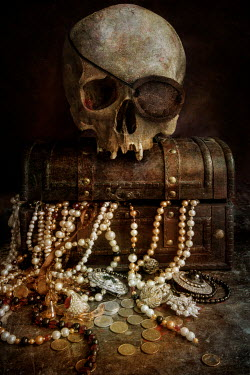 Jaroslaw Blaminsky PIRATE SKULL WITH TREASURE CHEST Miscellaneous Objects