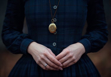 Monica Lazar HISTORICAL WOMAN WEARING LOCKET Women