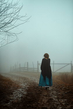 Monica Lazar HISTORICAL WOMAN ON MISTY ROAD Women