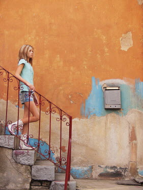 Tanya Gramatikova YOUNG GIRL WALKING DOWN STEPS Women