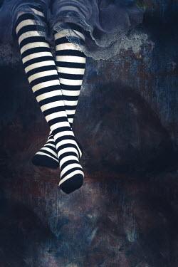 Des Panteva WOMAN IN STRIPY STOCKINGS Body Detail