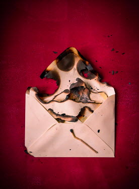 Jane Morley BURNT ENVELOPE AND LETTER Miscellaneous Objects
