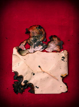 Jane Morley BURNT LETTER AND ENVELOPE Miscellaneous Objects