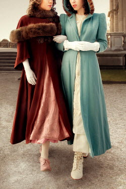 ILINA SIMEONOVA TWO VINTAGE WOMEN IN COATS Women
