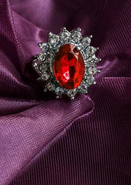 Jaroslaw Blaminsky SILVER JEWELLERY WITH RED GEM Miscellaneous Objects