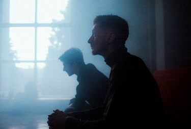 Marta Syrko TWO MEN SITTING Men