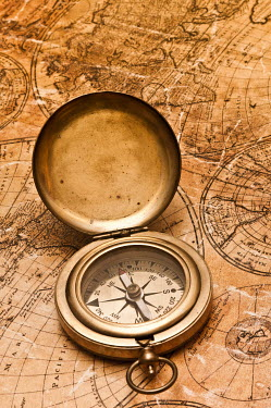 Valentino Sani ANTIQUE COMPASS AND OLD MAP Miscellaneous Objects