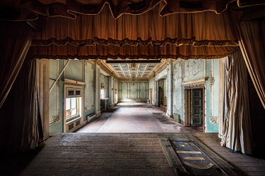 James Kerwin STAGE IN ABANDONED GRAND BUILDING Interiors/Rooms