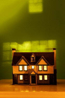 Stephen Mulcahey A miniature house on a bedside table Miscellaneous Objects
