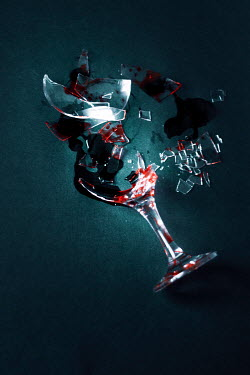 Nilufer Barin SHATTERED WINE GLASS WITH WINE Miscellaneous Objects