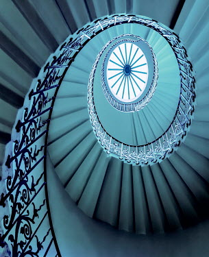Tony Watson BLUE SPIRAL STAIRCASE Stairs/Steps
